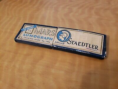 Vintage pencil lead Staedtler Mars Lumograph 1904 3H Germany 8 leads