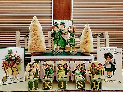 St. PATRICK'S☆FIGURINES☆BETHANY LOWE STYLE☆COLLECTABLES☆HOLIDAY☆VINTAGE☆RETIRED