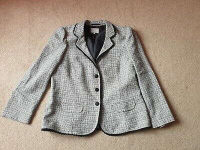 Per Una By Marks And Spencer Black And White Blazer Jacket Size 18