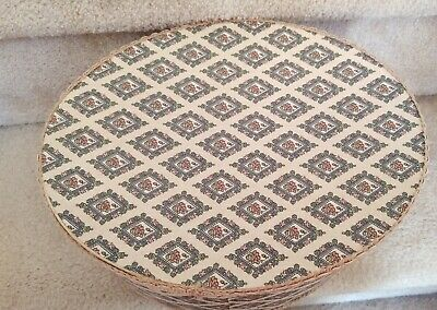 Oval Floral Hat Box 10 x 12.5 Inch