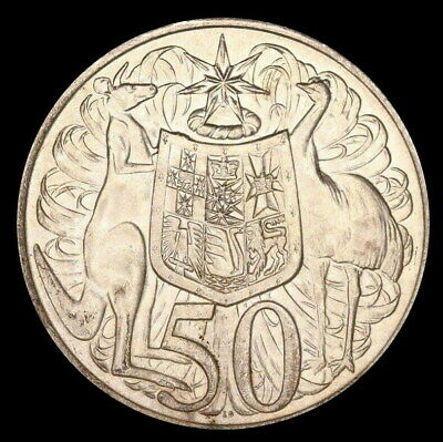 1966 ROUND 50c Silver Coin AUSTRALIA FIFTY CENTS