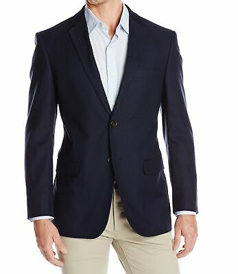 Designer Brand Mens Blazer Blue Size 38 Two Button Notched Lapel $159 909