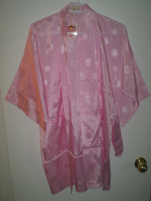 Golden Bee Chinese Kimono/Robe  NWT  Size S  Rayon Embroidered  Pale Pink