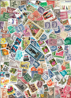 One ounce used worldwide stamps off paper or closely cropped free US ship (29)