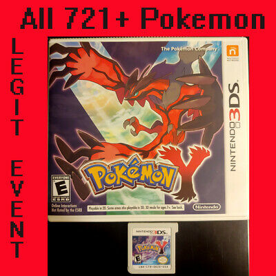 Pokemon Y - Loaded With All 721 + 120+ Legit Event Pokemon Unlocked COMPLETE 3DS