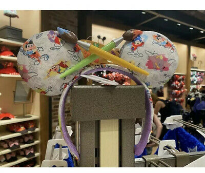 Disney Parks Ink & Paint Minnie Mouse Ear Headband New In Hand