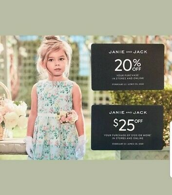 Janie and Jack 20% Off & $25 Off $100 or More In Store/Online Coupon EXP 4/12