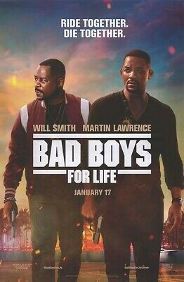 """Bad Boys for Life """"B"""" 11.5x17 Promo Movie POSTER"""