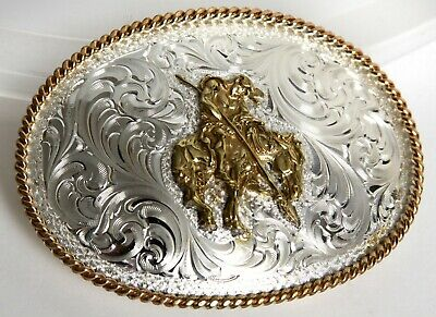 Montana Silversmith Silver-Plate Western Belt Buckle Fraser 1.5 End of the Trail