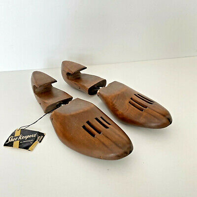 Vtg Wooden Rochester Shoe Tree Co Shoe Form Keepers Stretchers~Men's Large~NWT