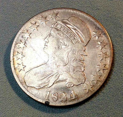 1824/4 Bust Half Dollar Sharp Nice bh12
