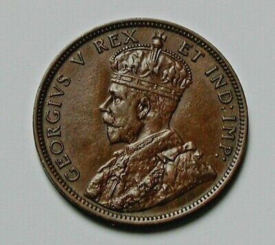 1911 CANADA George V Coin - Large Cent (1¢) - brown