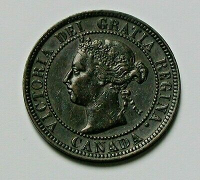 1901 CANADA Victoria Coin - Large Cent (1¢) - brown