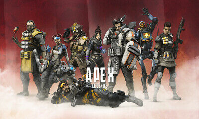 "Apex Legends Red Background Poster 24x36/"" or  27/""x 40/"""