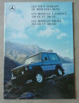 1988 MERCEDES G GE GD 280 230 250 Brochure Prospekt Catalogue Dépliant French