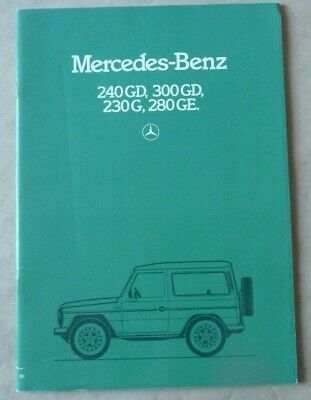 1981 MERCEDES G GE GD 300 240 280 Brochure Prospekt Catalogue Dépliant French