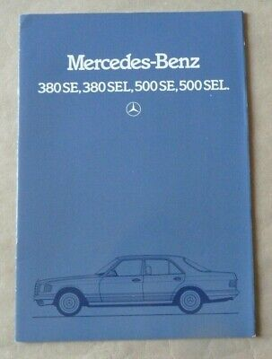 1982 MERCEDES S SEL 500 380 Brochure Prospekt Catalogue Dépliant French