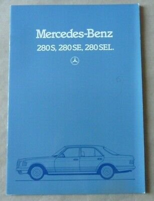 1982 MERCEDES S SEL 280 Brochure Prospekt Catalogue Dépliant French