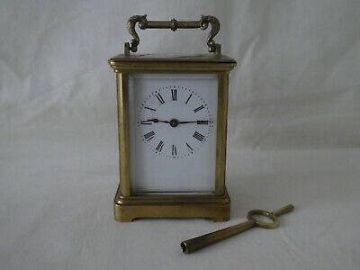 Antique French Brass Carriage Clock Richard & Co