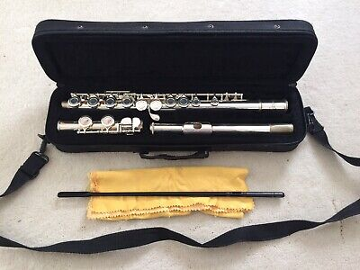 Sonata Student Silver Plated Flute with Case & Accessories. Excellent Condition