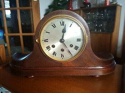 Gustav Becker Westminster Chime Napoleon Hat Mantel Clock Roman Numerals WORKING