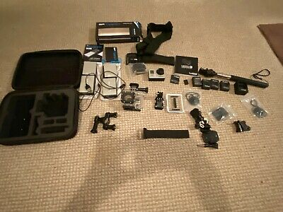 GoPro HERO3 Camcorder 12Mp - Black with accessories, including 2 Power Bar Duos
