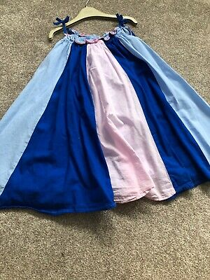 girls marks and spencer 4-5 Dress Pink Blue Perfect For Summer