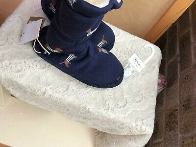 Joules 12-13 Slipper Boots New