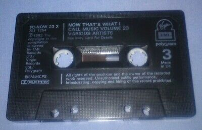 V/A NOW THAT'S WHAT I CALL MUSIC 23 cassette tape album