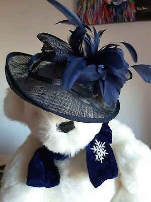 Debut  Navy Headband Hat Fascinator Weddings Ladies Day   Debut (Debenhams