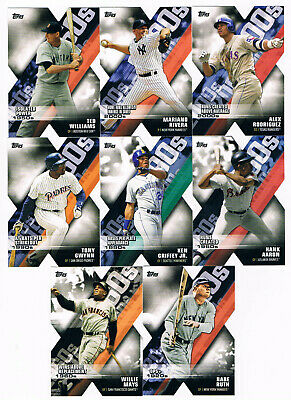 """2020 Topps Series 1 Decade of Dominance die cut set lot of """"9"""" cards ! No Dups !"""
