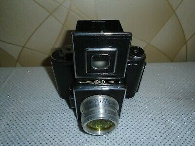 Vintage Agilux Agiflex Camera with Anastigmat 80mm F3.5 Lens and Case