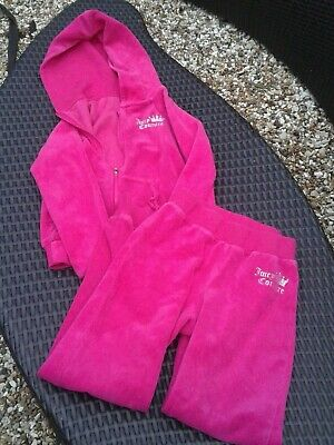 GIrls Pink Juicy Couture Velvet Tracksuit age 8-10 years