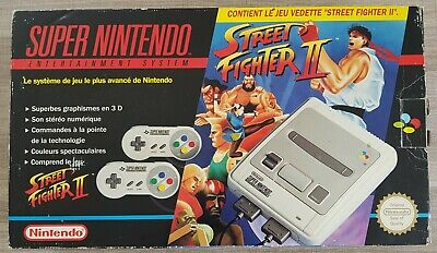 Pack street fighter 2 snes super nintendo console