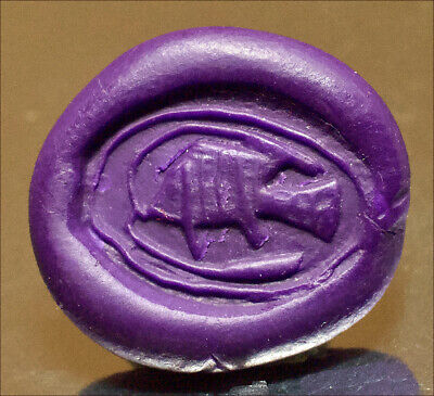 Egyptian scarab engraved with Balti fish. 1650 B.C,