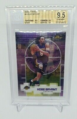 Kobe Bryant Topps Finest 2000-01 BGS Graded 9.5 Gem Mint PSA Certified