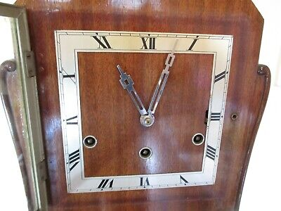Art Deco Hermle Westminster Chiming Long Case Grandaughter Clock (Working)