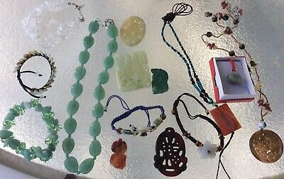 VINTAGE ANTIQUE CHINESE  ASIAN JEWELRY Jade Jadeite Necklaces/Bracelets/pendants
