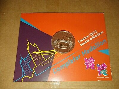 Royal Mint London 2012 Olympic 50p COMPLETER MEDALLION