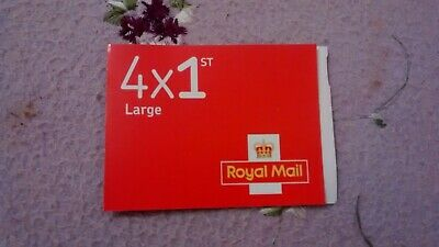 New Royal Mail Book of 4 UK 1st Class Large Letter Stamps - First Class
