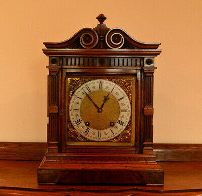 Lenzkirch Walnut And Burr Walnut Architectural Bracket Clock