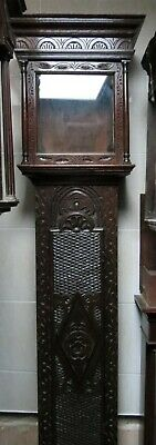 "Tall and Slender Antique Longcase Clock Case. Oak. For 11"" Square Dial. 86"" High"