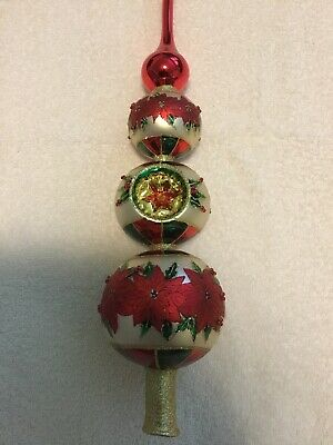 """Radko Reflections From The Top 12/"""" Finial Tree Topper 1019446"""