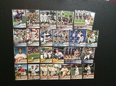 Lot of 32 2020 Topps Series 1 Decade's Best Inserts!