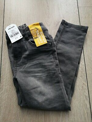 New NEXT Boys Grey Super Skinny Jeans Trousers Size 6 Years