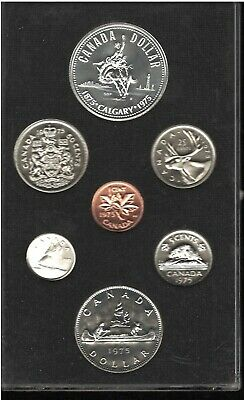 Canadian 6 Coin Set 1875-Calgary-1975, C/W Silver Dollar