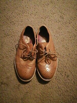 Boys Next Brogues,smart Shoes,brown Leather,size 1,worn Once