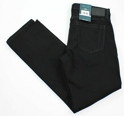 Perry Ellis Mens 32 x 30 Slim Fit Stretch Low Rise Black Jeans New with $80 Tags