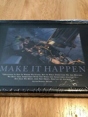 "Successories ""Make It Happen""  5x7 Motivational Desk Plaque - New"