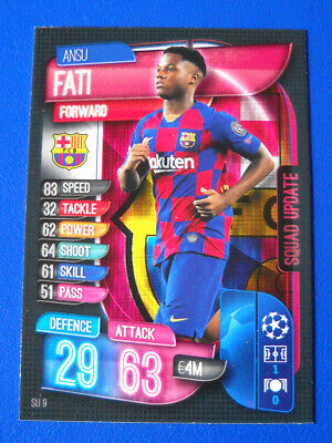 Topps Match Attax Extra Champions League 2019/20 #Su 9 - Fati - Barcelona